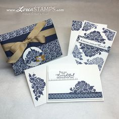 LovenStamps: Stamps in the Mail Club, July 2016 - Floral Phrases, make your own card box with the Envelope Punch Board - Video Tutorial, all products from Stampin' Up