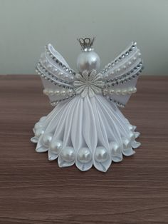 Diy Crafts - Crochet Christmas Angels Baptism gift Lace Angel ornament Tree decoration Home decor Wedding gift r Felt Christmas Decorations, Easy Christmas Crafts, Christmas Tree Toppers, Christmas Angels, Christmas Projects, Christmas Wreaths, Christmas Ornaments, Birthday Decorations, Diy Ribbon Flowers