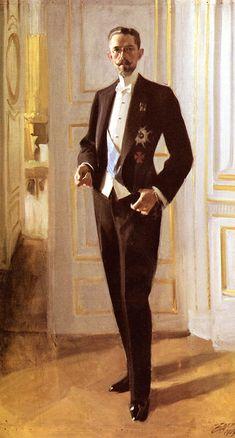 "Anders Zorn ""Gustav V"" Olja på duk 201 x 123 cm. Adele, Prinz Eugen, Singer Sargent, American Presidents, Portrait Art, Male Portraits, Art Reproductions, Online Art Gallery, Art Nouveau"