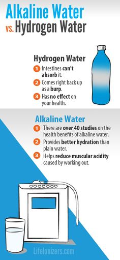 Alkaline water is backed by over 40 studies. Hydrogen water isn't backed by any studies.