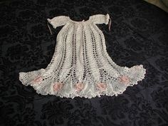 Crochet Patterns for Baby Gowns, Booties and Hats - Newborn