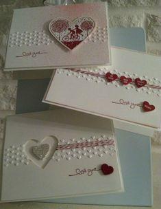 http://patstamper.typepad.com/.a/6a0105356d8a71970b0168e6a38223970c-pi Valentine Love Cards, Valentines, Wedding Anniversary Cards, Wedding Cards, Scrapbooking, Scrapbook Cards, Cute Cards, Diy Cards, Art Du Papier