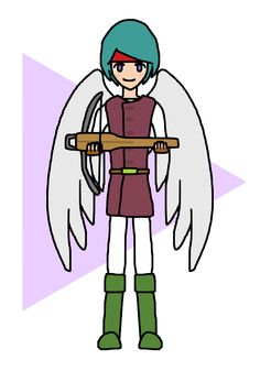 Angel Hero And Crossbow / #Boy #Weapon