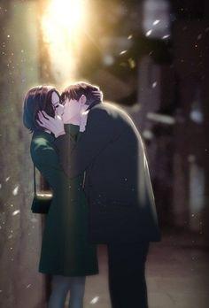 Couples Kissing Drawing, Anime Couples Drawings, Anime Couples Manga, Couple Kiss Drawing, Cute Couple Art, Anime Love Couple, Couple Cartoon, Anime Love Story, Manga Love