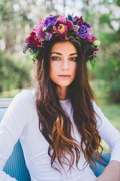 Wild Romantics Flower Crown | Light & Type Photography on @polkadotbride via @aislesociety