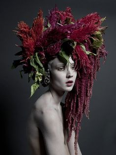 reminds me of a female Bacchus