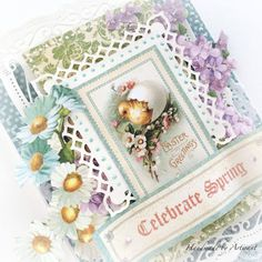 Sweet Sentiments Easter cards for Graphic 45  by Aneta Matuszewska  photo 5