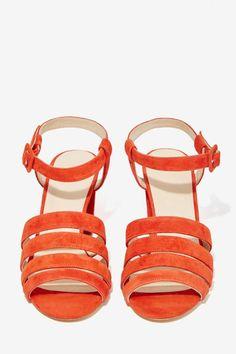 Maryam Nassir Zadeh Palma Suede Heel - Shoes   Heels   Open Toe
