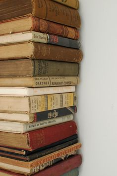 Nothing Prettier than a stack of old books #books #vintage