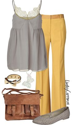 """""""Yellow and Grey"""" by lindsycarranza on Polyvore"""