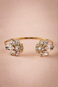 Love this crystal + gold bangle