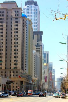 April 2, 2013. The streets of Dalian, China illumined on a spring day.  www.traveladept.com