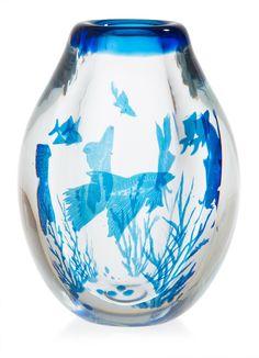 @@ Edward Hald 'Graal' glass vase, Orrefors 1944.