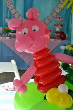 Centerpieces - Partylicious: {Peppa Pig Party}