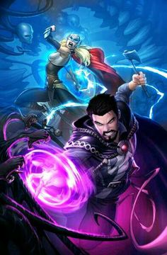 Dr Strange and Thor Jane Foster. B.S.