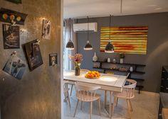 Slik moderniserte Tid for hjem det avlange kjøkkenet til et «allrom Color Inspiration, Plates, Kitchen, Table, House, Furniture, Norway, Design, Home Decor
