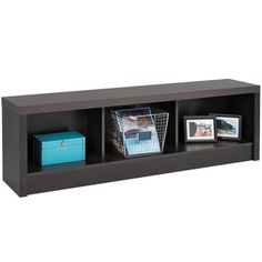 Hudson Washed Black Storage Bench - Overstock™ Shopping - Great Deals on Prepac Benches