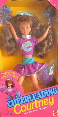 Barbie CHEERLEADING COURTNEY Doll Friend of CHEER LEADING SKIPPER Doll (1992) by Mattel, Made in Malaysia. $79.99