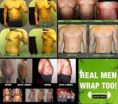 Guys, It Works products are not just for women. Check out the results these results! Www.zoewrapsfun.com