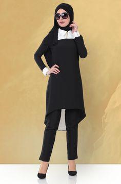 """Ginza Wear Sivri Yakalı Tunik 1700 Siyah Sitemize """"Ginza Wear Sivri Yakalı Tunik 1700 Siyah"""" tesettür elbise eklenmiştir. https://www.yenitesetturmodelleri.com/yeni-tesettur-modelleri-ginza-wear-sivri-yakali-tunik-1700-siyah/"""