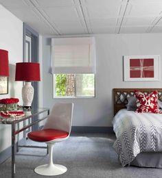 Superb painting unfinished basement ceiling ideas for your cozy home Cozy Basement, Basement Bedrooms, Basement Ideas, Basement Shelving, Basement Decorating, Basement Makeover, Decorating Tips, Chaise Panton, Basement Ceiling Options