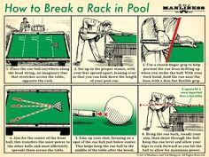 how to break a rack in pool billiards illustration diagram Survival Life Hacks, Survival Prepping, Survival Skills, Survival Equipment, Survival Stuff, Art Of Manliness, Little Bit, Urban Survival, Simple Life Hacks