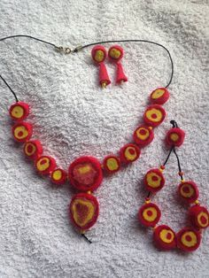 """Necklaces,bracelet and ear rings -"""" Machu Picchu"""" £22.00"""