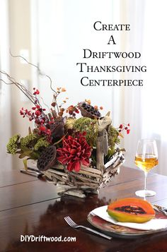 Creating a Thanksgiving Centerpiece from Driftwood for your holiday table. Country Christmas Crafts, Country Crafts, Primitive Christmas, Primitive Crafts, Christmas Decor, Holiday Decor, Easy Diy Crafts, Diy Crafts For Kids, Decor Crafts