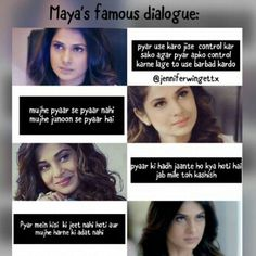 Wht a dialogues. Sprb Wht a dialogues. Girly Attitude Quotes, Sassy Quotes, Girly Quotes, Disney Quotes, Love Quotes, Maya Quotes, Hurt Quotes, Lyric Quotes, Maya Beyhadh