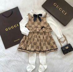 Gucci for girls 💖 Gucci for girls 💖 Gucci Baby Clothes, Luxury Baby Clothes, Designer Baby Clothes, Knitted Baby Clothes, Cute Baby Clothes, Baby Fashion Clothes, Baby Clothes For Girls, Girl Clothing, Baby Outfits Newborn