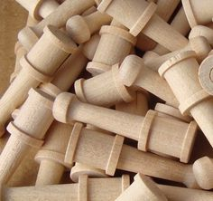 Turned Hardwood Pegs For Craft, Fairy Furniture Legs, Make Your Own Game Pieces…