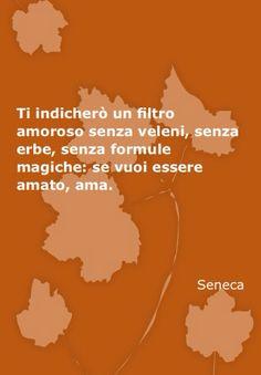 Ti indicherò un filtro amoroso senza veleni,senza erbe,senza formule magiche:se vuoi essere amato, AMA .                                               Seneca