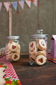 Delicious and easy to bake heart shaped jam cookies - the perfect gift for Mothers Day or simply as a fun activity to do with the kids! | Photography by Christine Meintjes