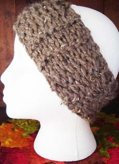 Brown Ultra Soft Super Chunky Boho Womens by jennymillerartistry, $10.99