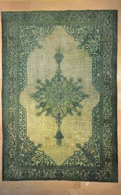 New arrival to Rug Goddess this bright emerald green Vintage Persian Style 7' x 10' area rug is hand-knotted in this rich green hue. Made in Turkey it would make a great addition to living rooms, bedrooms, and because of the medallion would make a perfect grand entryway rug! Priced at $1500. Contact the Rug Goddess at 1-800-481-1572 to add this one of a kind Turkish hand-knotted rug to your space!