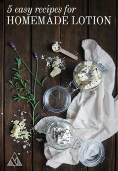 Interested in making a healthier, better smelling, more natural lotion? Follow one of our 5 Easy Homemade Lotion Recipes made for every occasion!