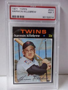 1971 Topps Harmon Killebrew PSA Graded NM 7 Baseball Card #550 MLB Collectible #MinnesotaTwins