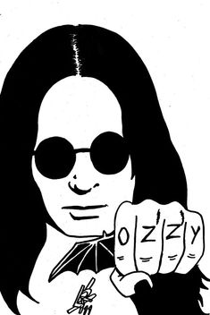 Artes de Lucas!: Desenho Ozzy Osborne