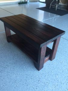DIY Entryway Bench - Easy to make bench with shoe storage underneath. Made entirely from 2 x 4's.