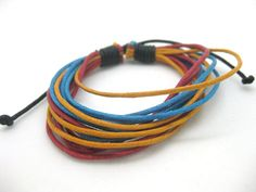 Shoply.com -Cuff Bracelet  all ues rope  fashion Jewelry   yellow blue orange color. Only $1.59