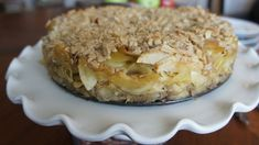 Apple Kugel Crumble Cake- more dessert than side dish? Kugel lovers won't mind a bit:) Kosher Recipes, Apple Recipes, Holiday Recipes, Cooking Recipes, Pancake Recipes, Holiday Meals, Jewish Bread, Jewish Food, Knish Recipe