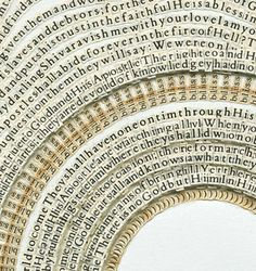 Brooklyn artist Meg Hitchcock weaves together spiritual passages by cutting up religious texts letter by letter.