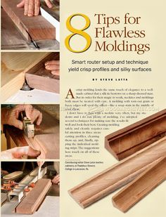 Routing Furniture Molding - Molding Construction