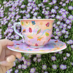 Pocahontas Colours of the Wind Teacup - Handprinted by The Quirky Cup Collective