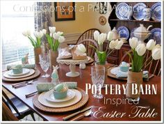 EASTER: Pottery Barn Inspired Easter Tablescape @ Confessions Of A Plate Addict