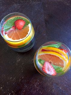 Strawberry, Orange, Mint Infused Water