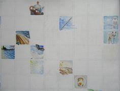Dag 21 van project Winterlicht. 5 x 5cm. Acrylverf op doek (45 bij 84 cm.).
