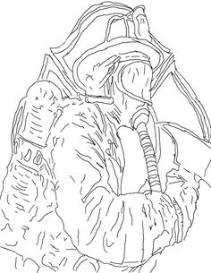 Free Halloween fireman coloring page for kids | Coloring - People ...