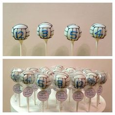 how to make volleyball cake pops - Google Search