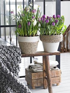 crochet + pots